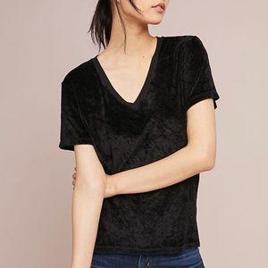 Anthropologie Vali Velvet T-Shirt Top XS H0857